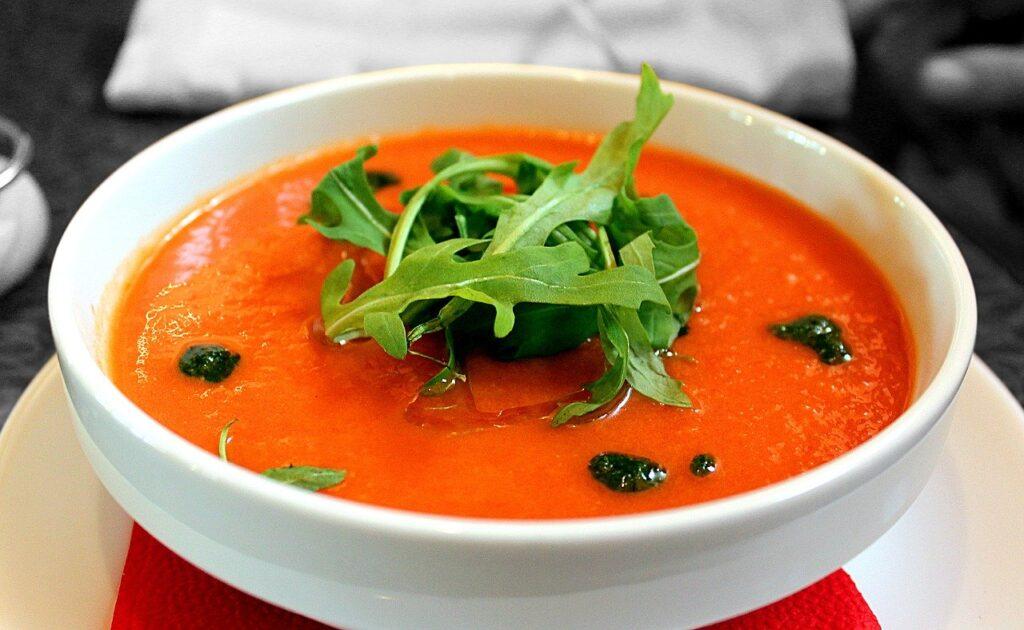 tomato soup, soup, gazpacho
